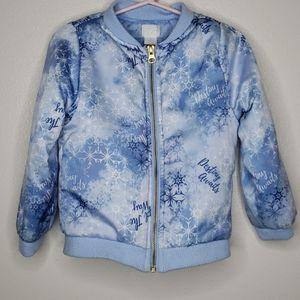 Disney FROZEN Snowflake Lightweight Zip 4T Jacket